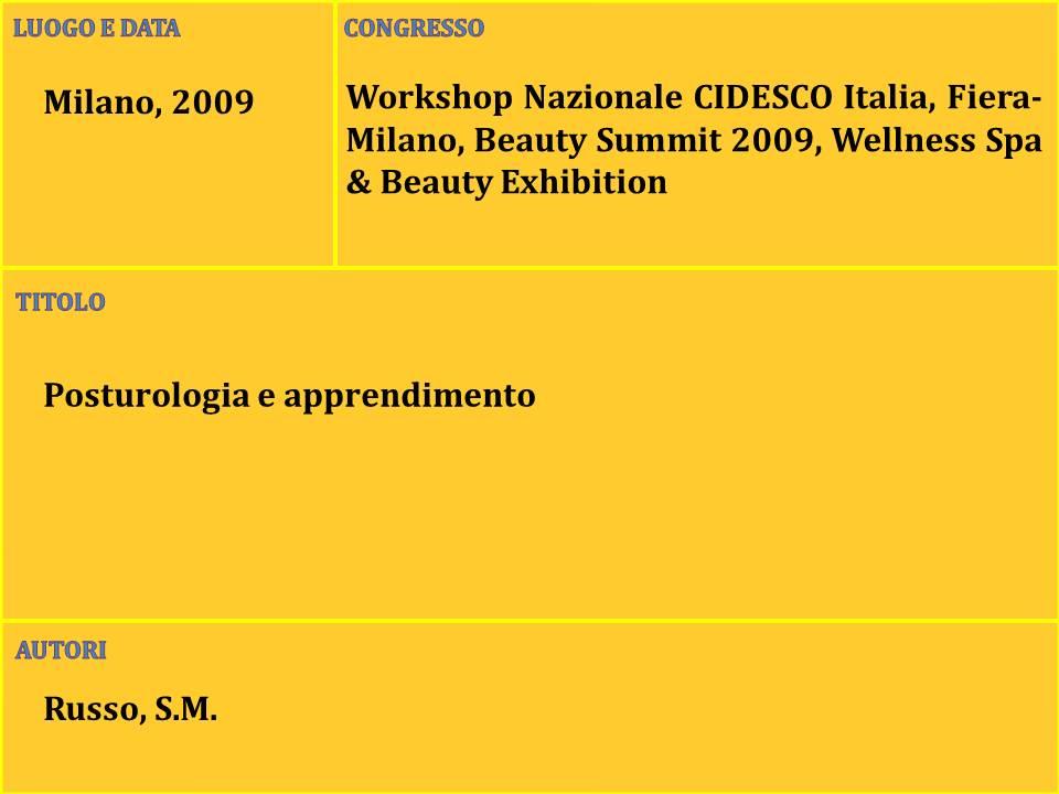 1-Posturologia e apprendimento