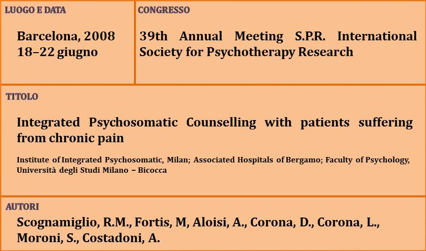 15-Integrated Psychosomatic Counselling with patients suffering from chronic pain