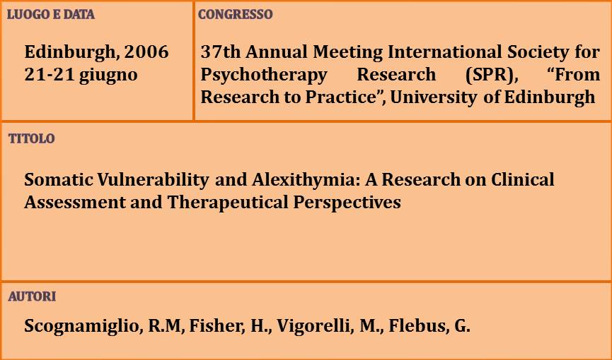 18-Somatic Vulnerability and Alexithymia A Research on Clinical Assessment and Therapeutical Perspectives