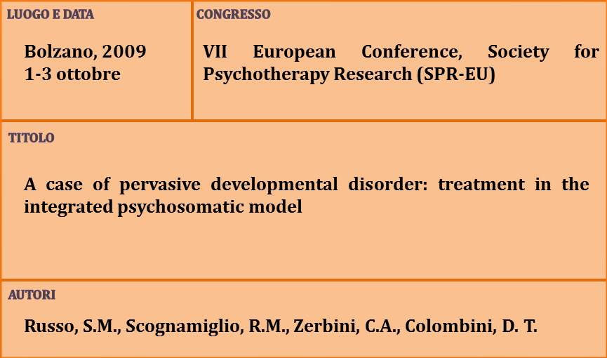 6-A case of pervasive developmental disorder treatment in the integrated psychosomatic model