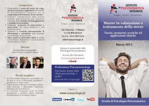 Master stress Milano 2015 per psicologi e medici